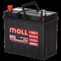 аккумулятор автомобильный  MOLL Azia 55 R+ (70D20L) 55 Ач 485 А