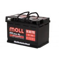 аккумулятор автомобильный Moll M3 Plus 75 R+ 75 Ач 660 А