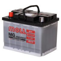 аккумулятор автомобильный Moll Standart 62 L+ 62 Ач 600 А