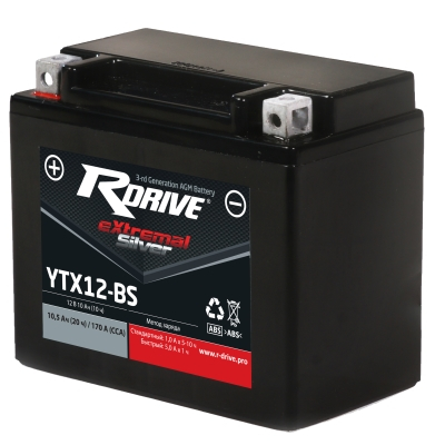 RDrive Silver YTX12-BS