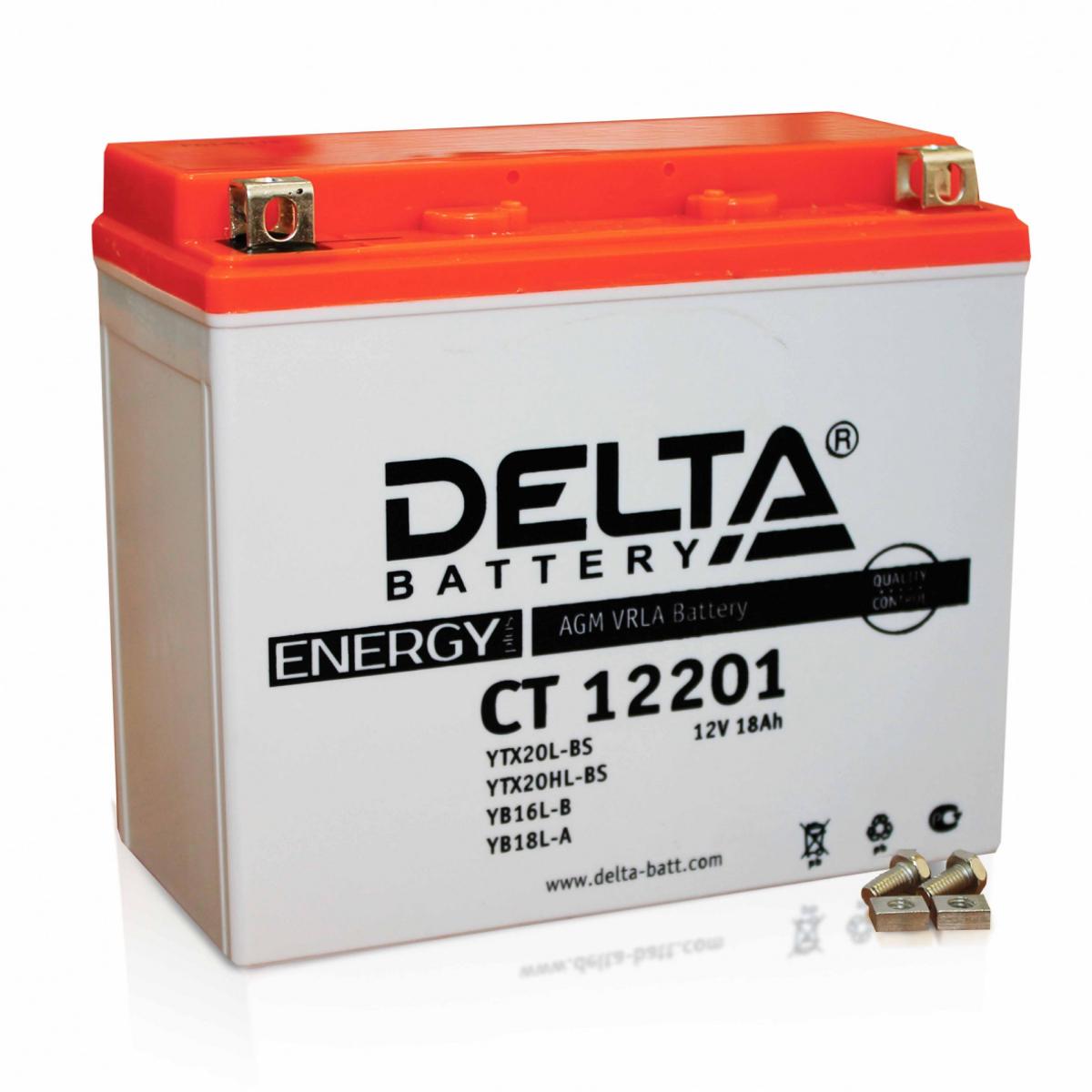 DELTA CT12201 (YTX20L-BS, YTX20HL-BS, YB16CL-B, YB16L-B, YB18L )