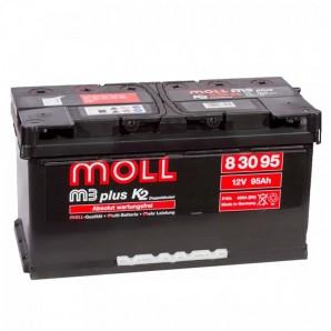 аккумулятор автомобильный Moll M3 Plus 95 R+ 95 Ач 850 А