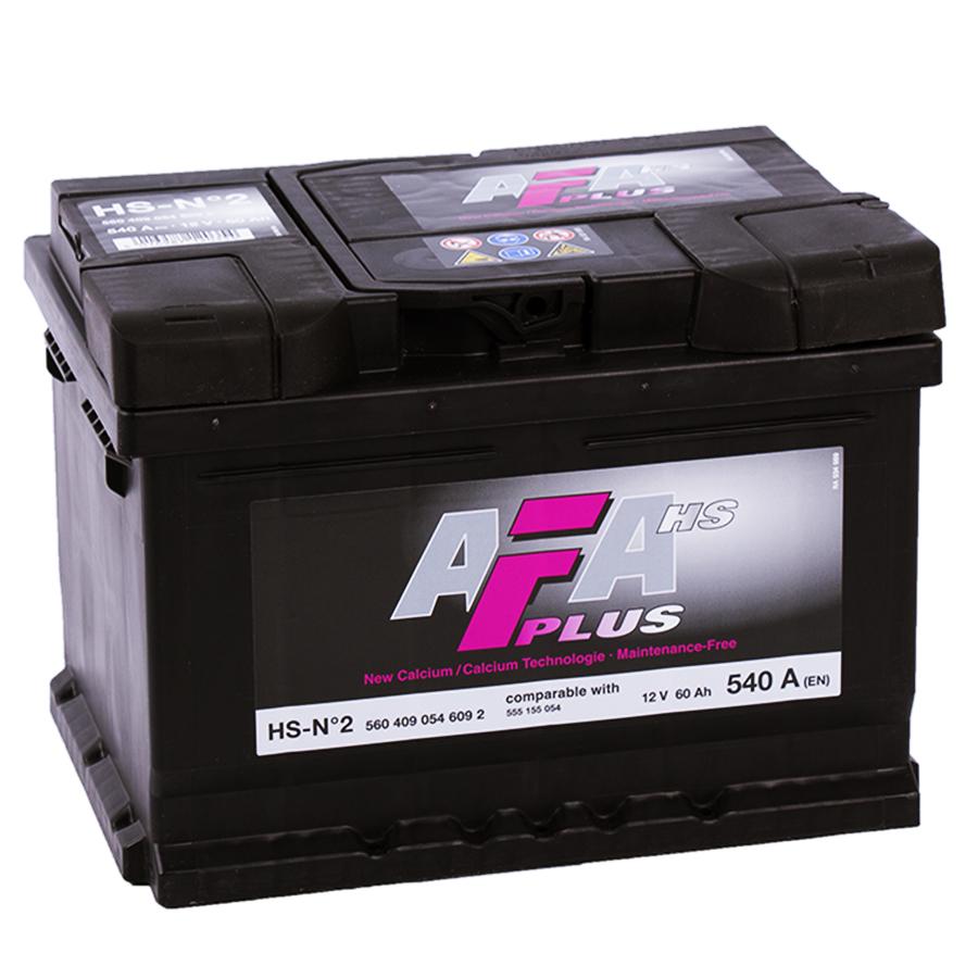 аккумулятор автомобильный AFA HS-N2 60 Ah R+ 60 Ач 540 А