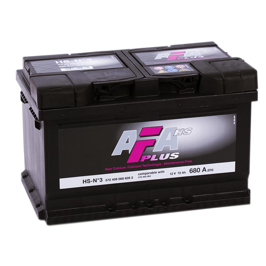 аккумулятор автомобильный AFA HS-N3 R+ 72 Ач 680 А