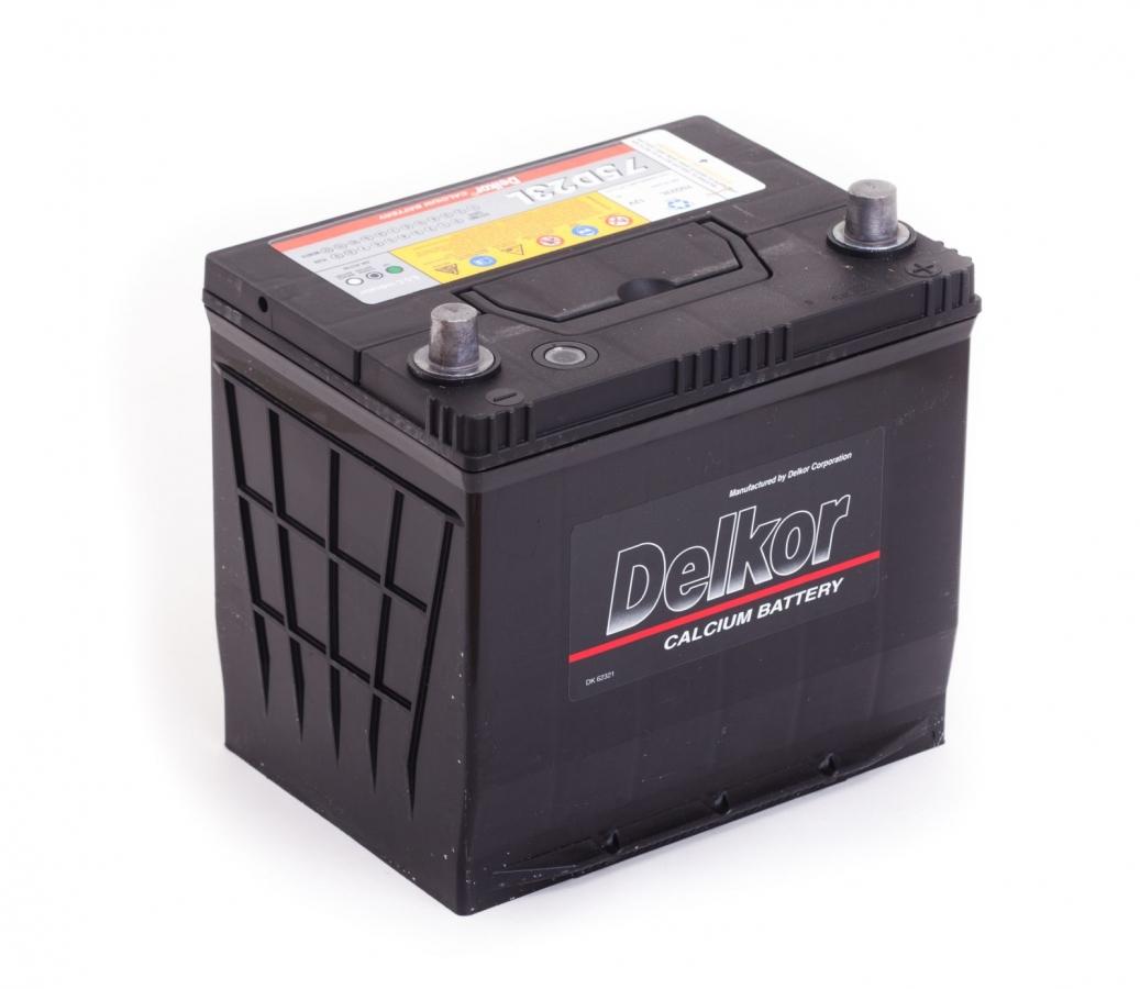 аккумулятор автомобильный DELKOR 6СТ-65 R+ 75D23L