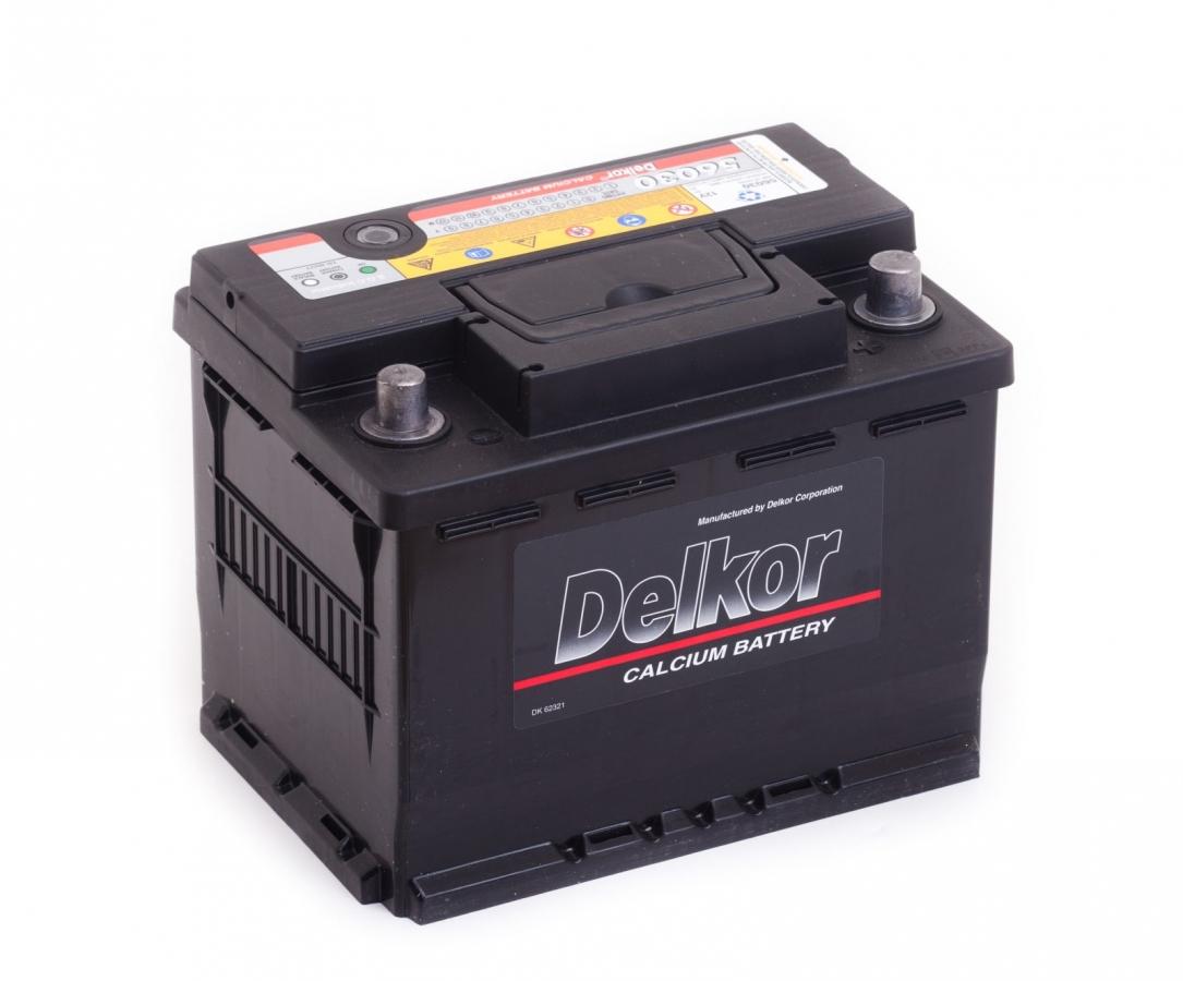 аккумулятор автомобильный DELKOR 6СТ-60 R+ 56030