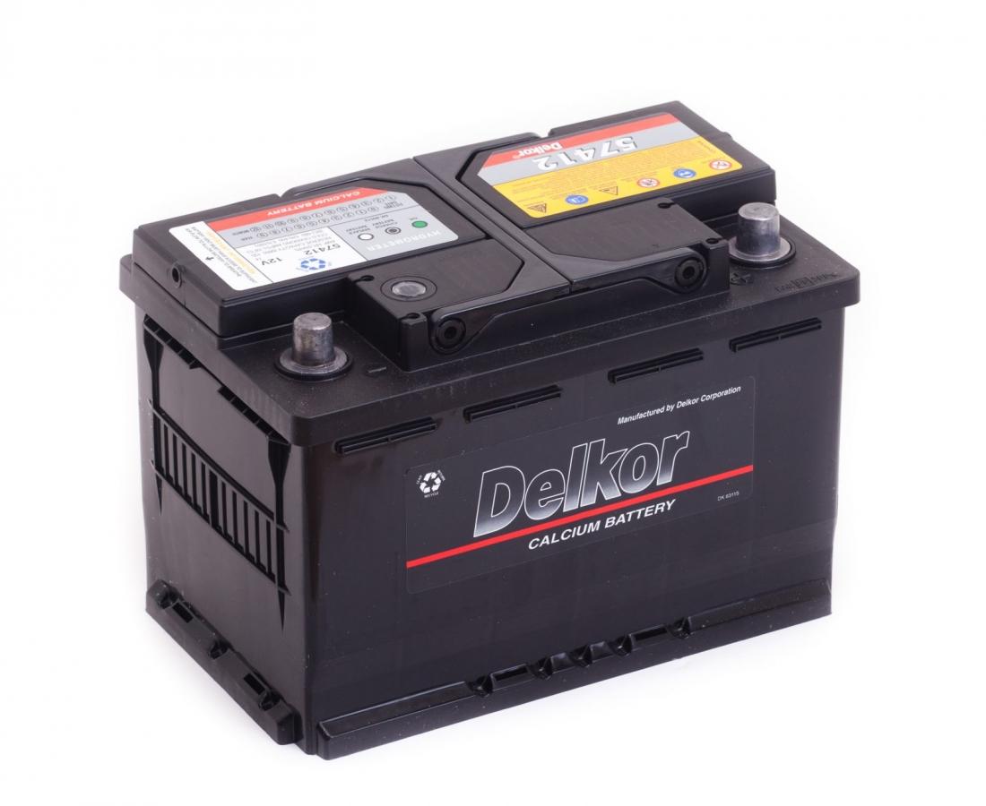 аккумулятор автомобильный DELKOR 6СТ-74 R+ 57412