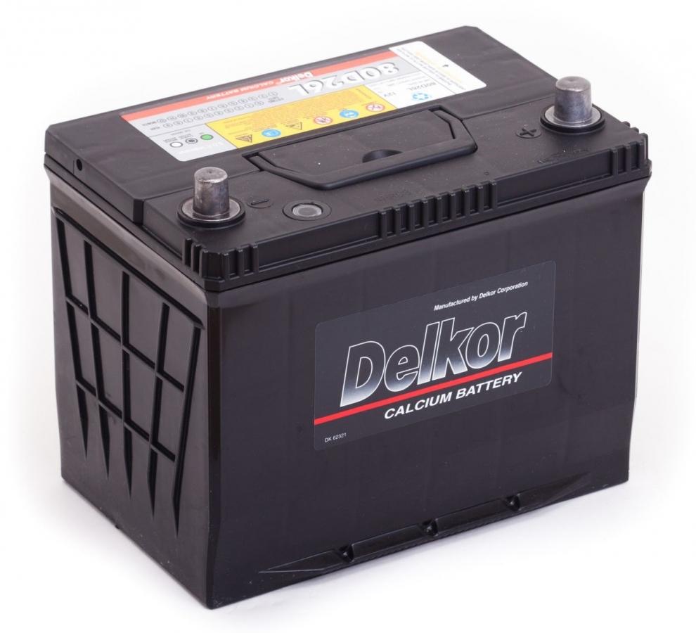 аккумулятор автомобильный DELKOR 6СТ-75 R+ 80D26L
