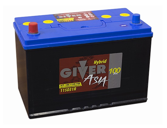 GIVER ASIA 6СТ -100 L+ (115D31R)