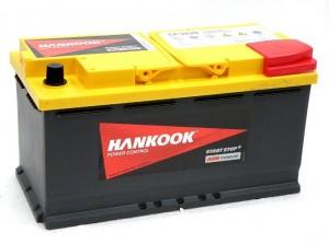 аккумулятор автомобильный HANKOOK Start-Stop Plus AGM 6СТ-95 R+ (SA 59520)