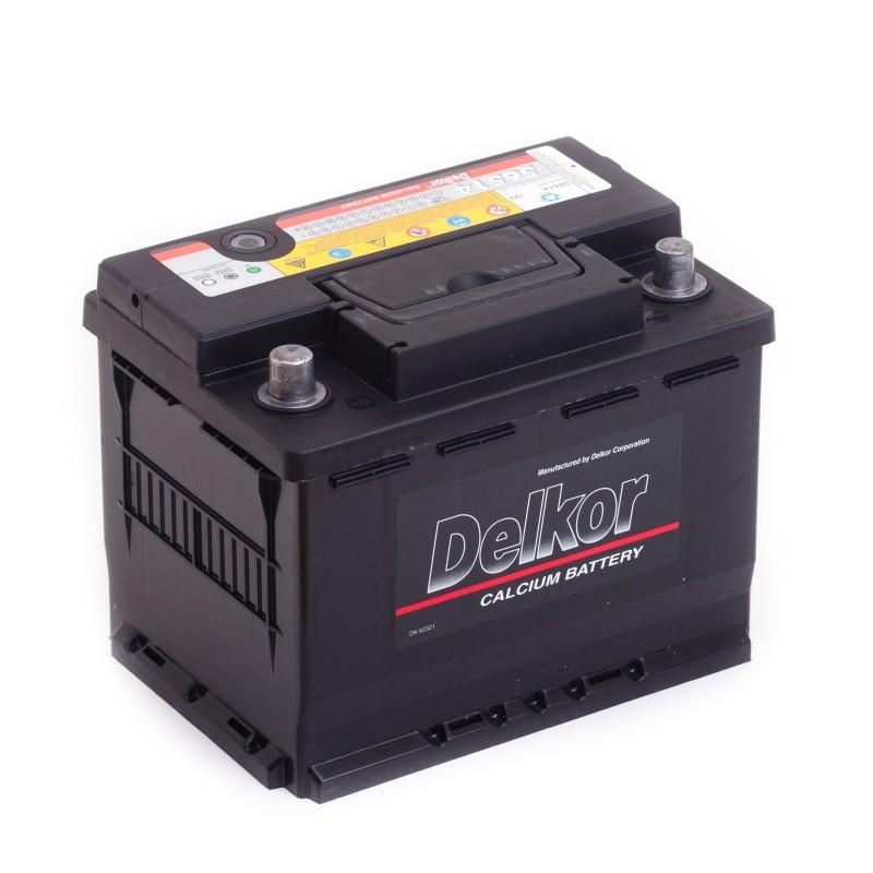 аккумулятор автомобильный DELKOR 6СТ-65 L+ 56514