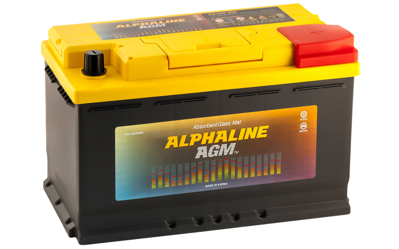 автомобильный аккумулятор ALPHALINE AGM START-STOP 80R