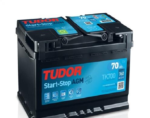 аккумулятор автомобильный Tudor AGM Start-Stop 70Ah (TK700)