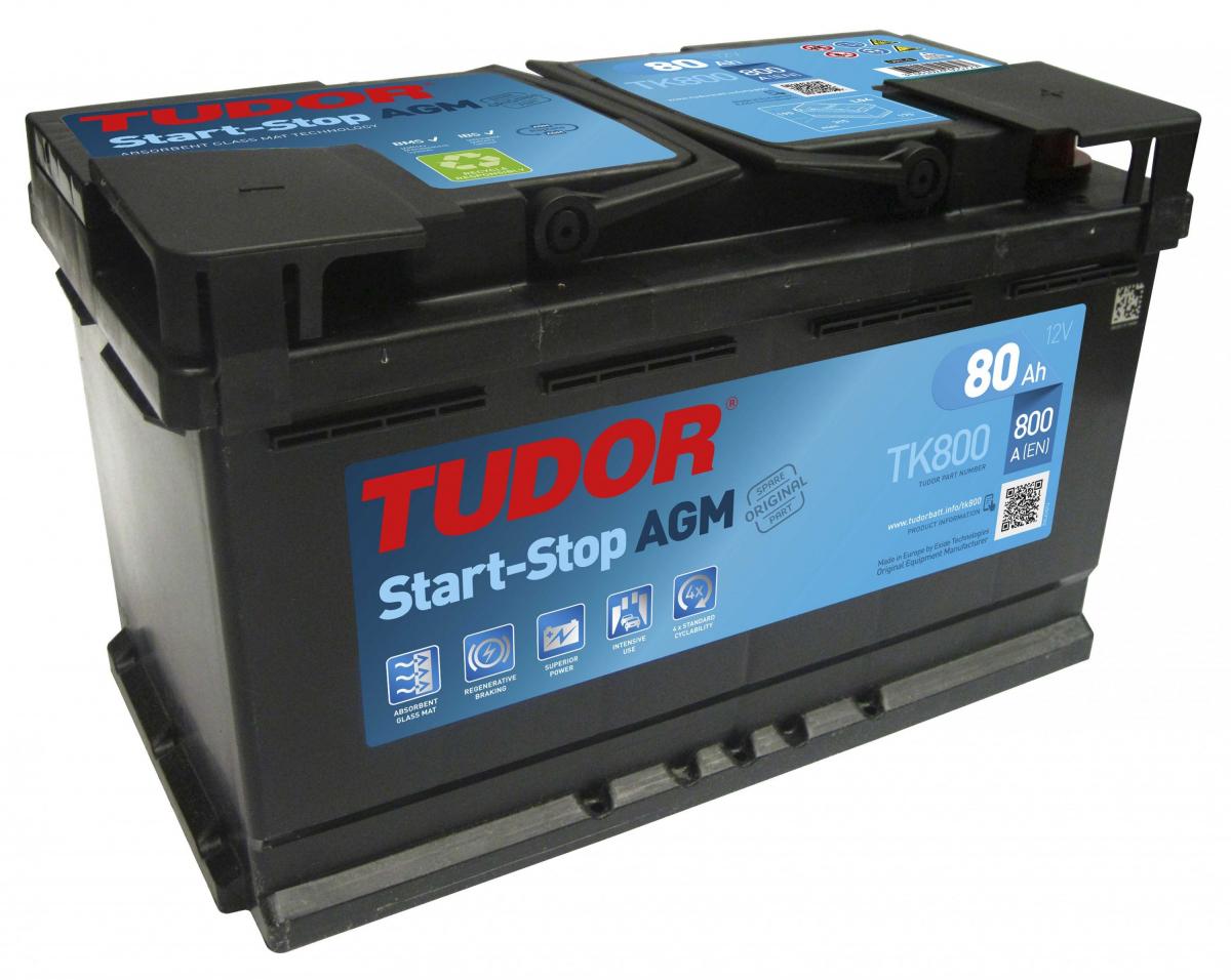 аккумулятор автомобильный TUDOR AGM Start-Stop 80Ah (TK800)