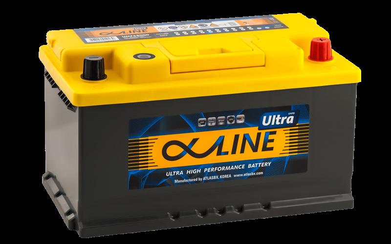 аккумулятор автомобильный ALPHALINE ULTRA 80SR 80Ah 800A