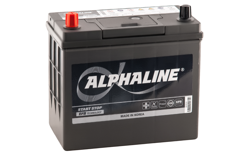 аккумулятор автомобильный ALPHALINE EFB Start-Stop N55R (70B24R)