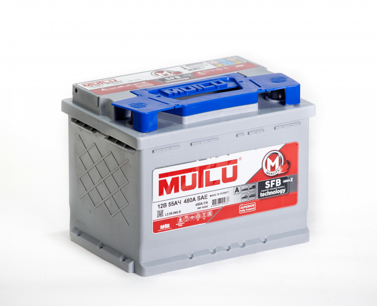 аккумулятор автомобильный Mutlu SFB M2 55 Ач 480 А R+