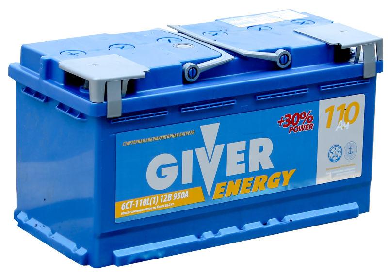 аккумулятор автомобильный GIVER ENERGY 6CT - 110 R+ 950 А обр. пол. 110 А/ч