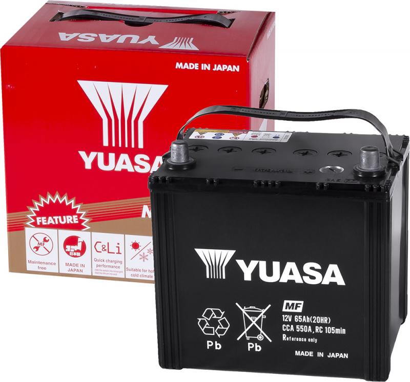 аккумулятор автомобильный YUASA 80D23L 65 Ач 550 А