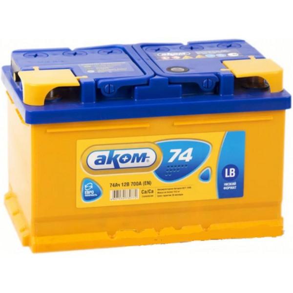 Аккумулятор АКОМ LB 74 А/ч ОБР EN700