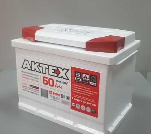 Аккумулятор АКТЕХ 60 А/ч  EN600