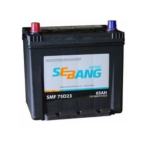Аккумулятор SEBANG 65 А/ч SMF 75D23KR  EN580