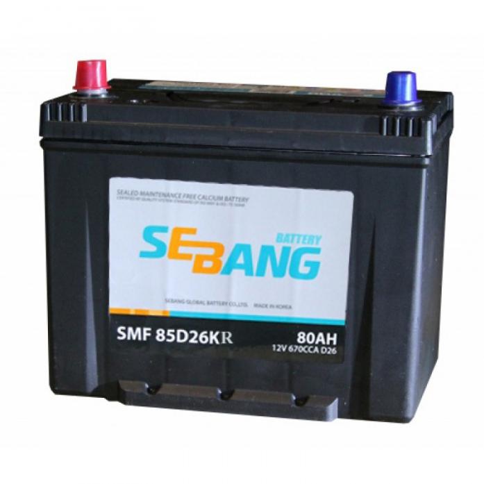 Аккумулятор SEBANG 80 А/ч SMF 85D26KR  EN670
