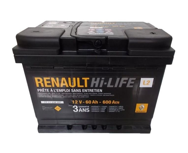 Аккумулятор RENAULT 60 А/ч  R+ EN 600A