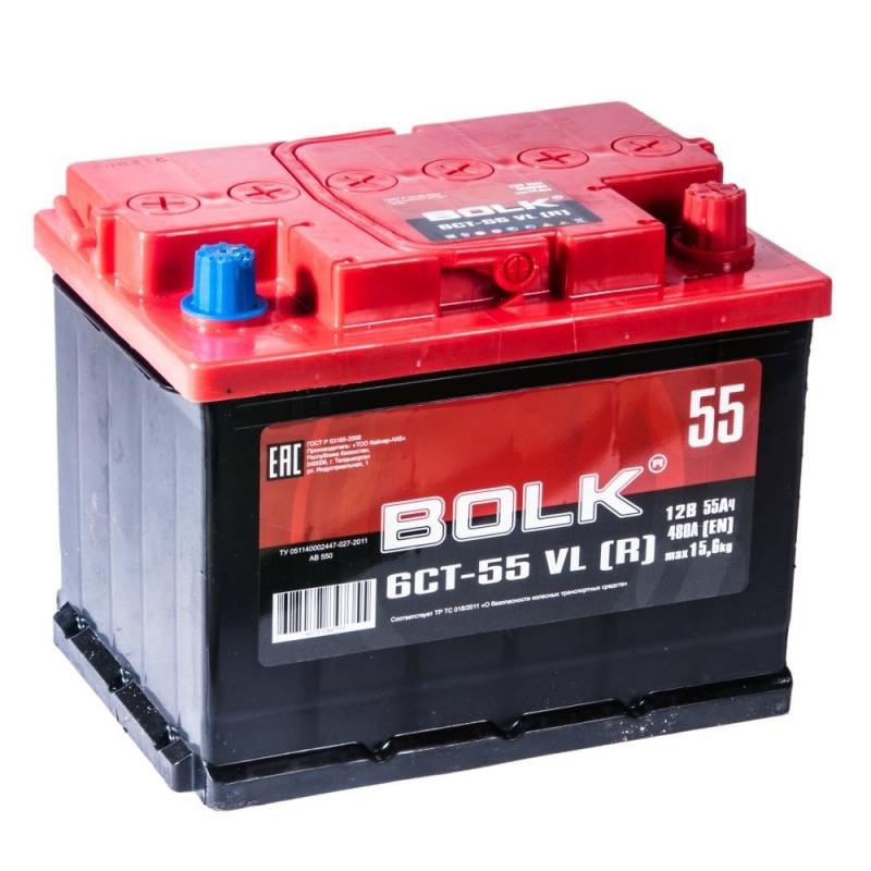 Аккумулятор BOLK 55 А/ч ОБР EN450