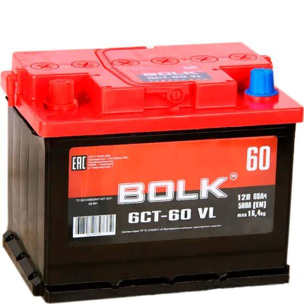 Аккумулятор BOLK 60 А/ч  EN500