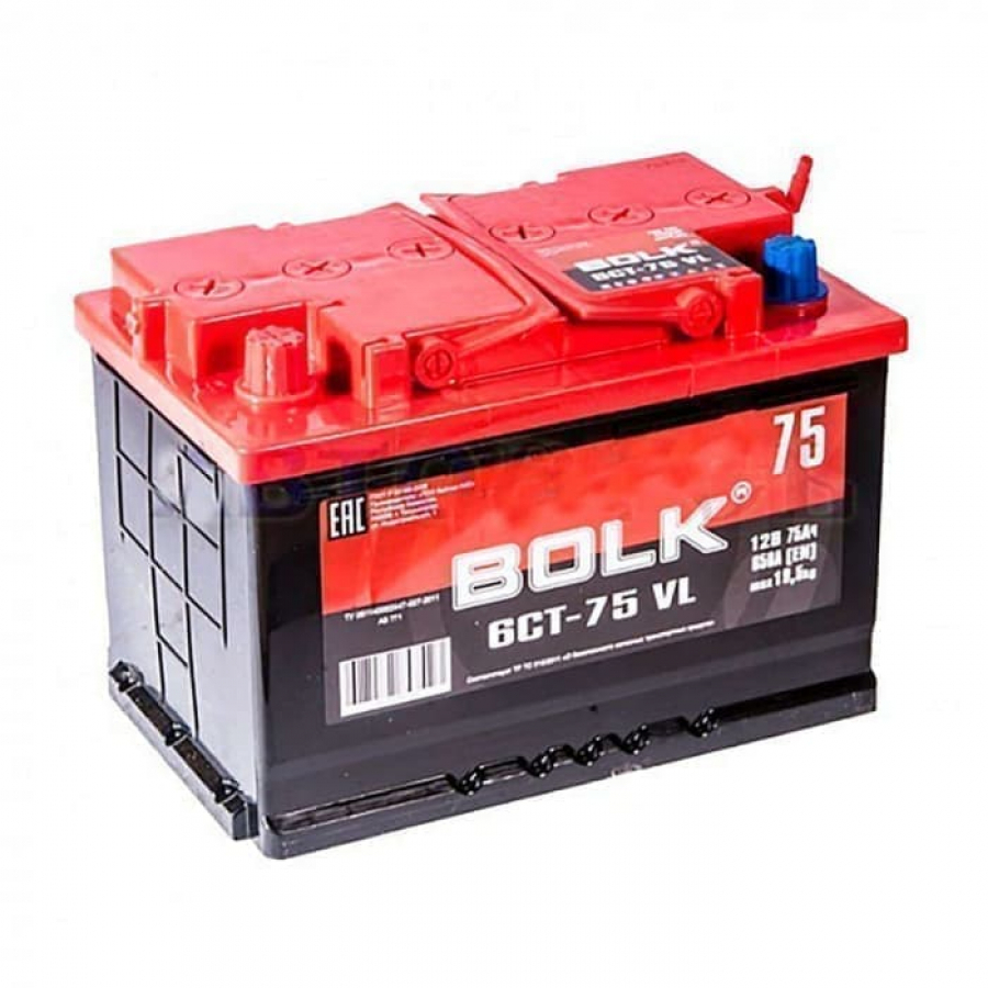 BOLK 75Ah 600A L+