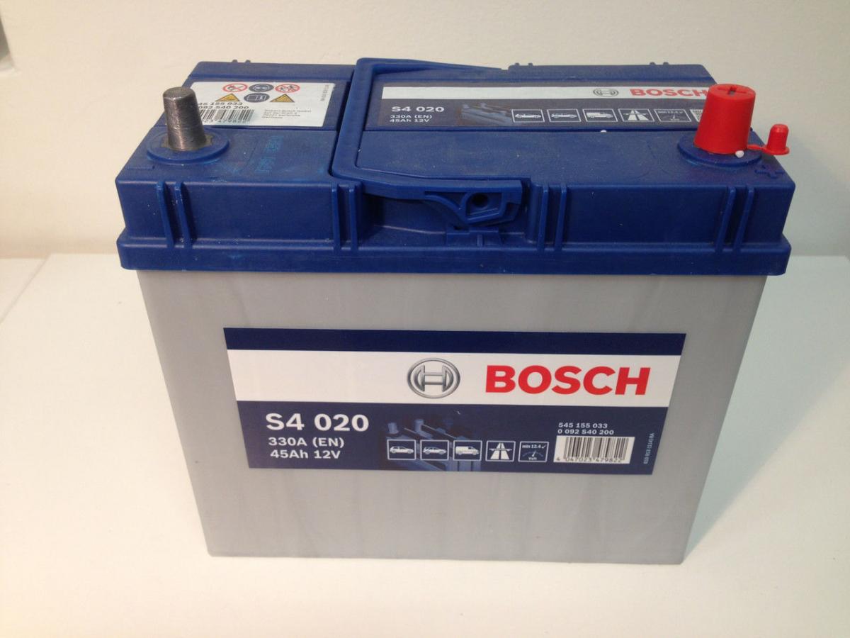 Аккумулятор BOSCH 45 А/ч S40 20 ОБР EN330 выс узк кл