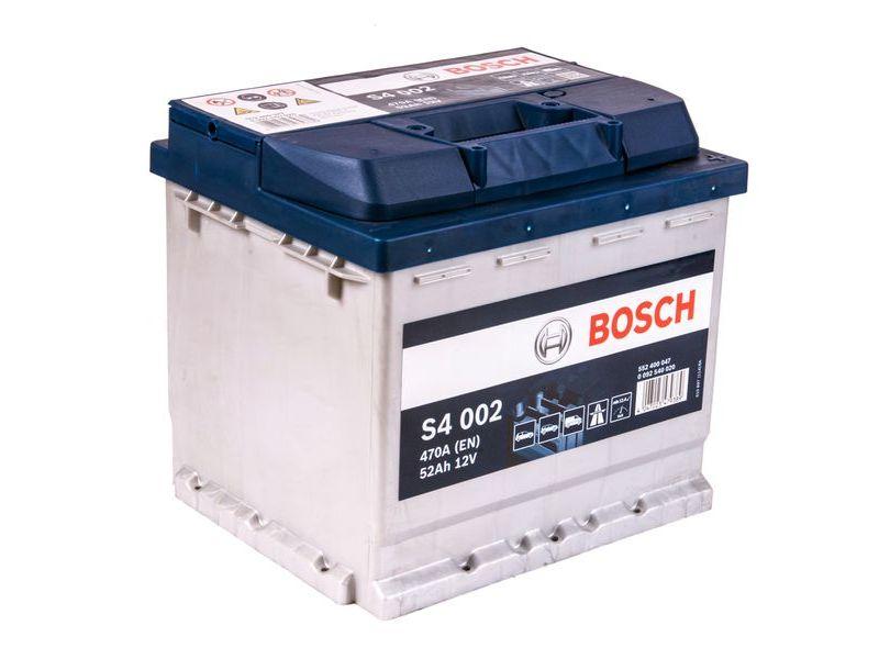 Аккумулятор BOSCH 52 А/ч S40 02 ОБР  EN470