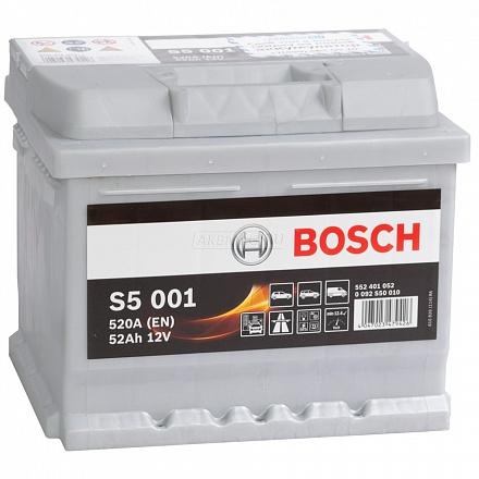 Аккумулятор BOSCH 52 А/ч S50 01 ОБР EN520 низк