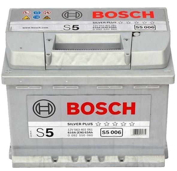 Аккумулятор BOSCH 63 А/ч S50 06  EN610