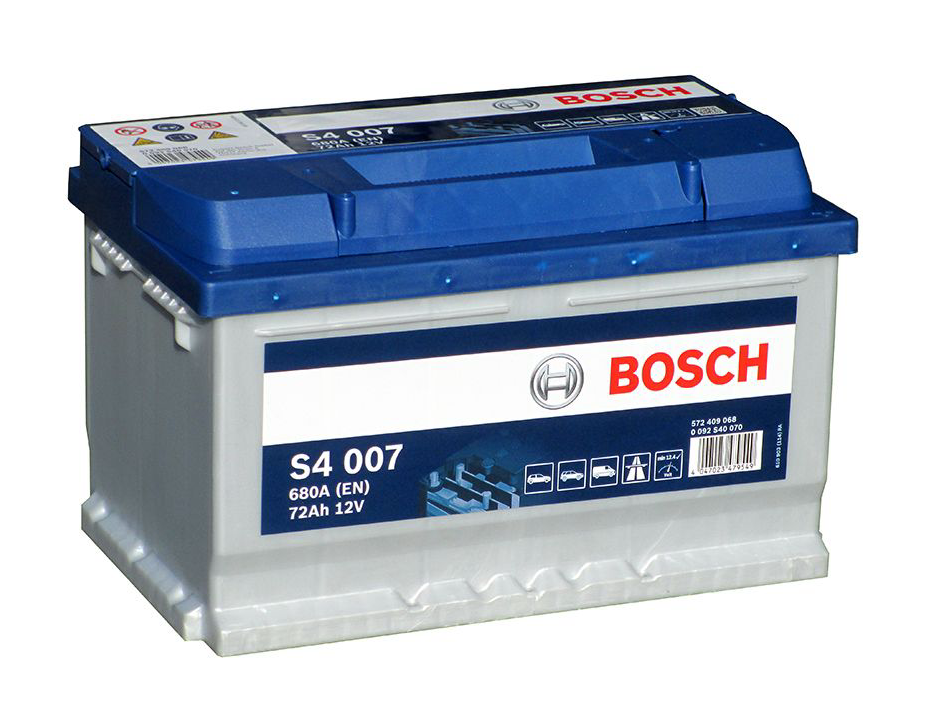 Аккумулятор BOSCH 72 А/ч S40 07 ОБР  EN680