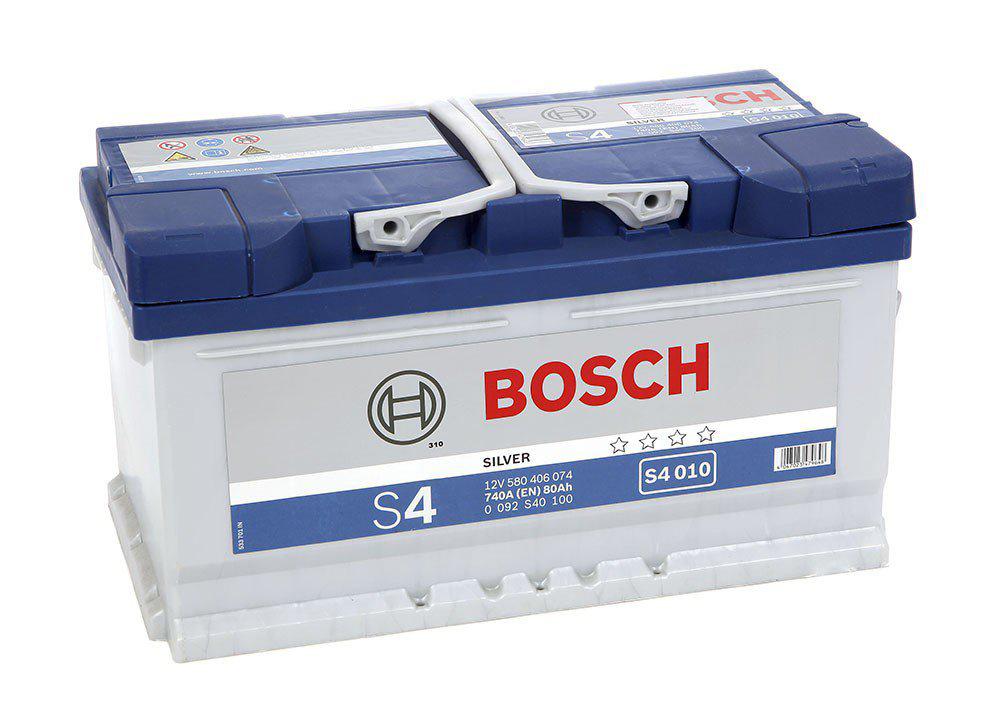 Аккумулятор BOSCH 80 А/ч S40 10 ОБР  EN740