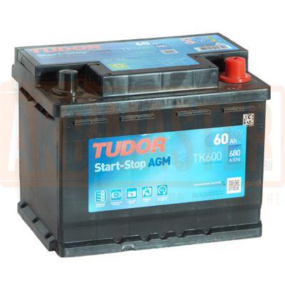 TUDOR  AGM 60Ah 680А R+