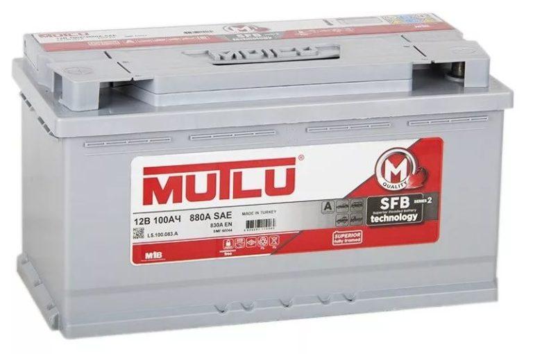 Аккумулятор MUTLU SFB 100 А/ч EN830