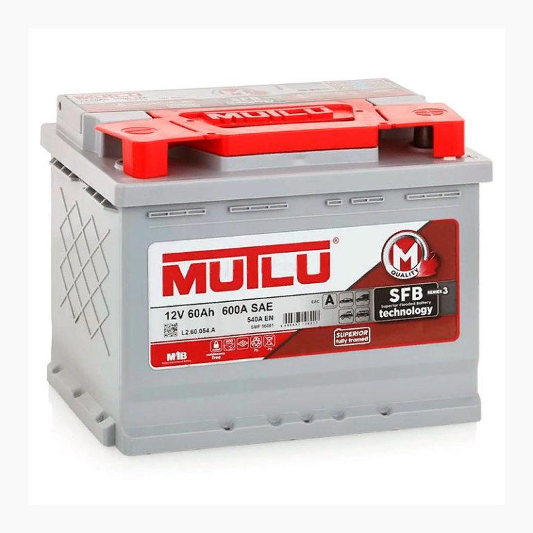 MUTLU SFB 60Ah 620А R+,низкий