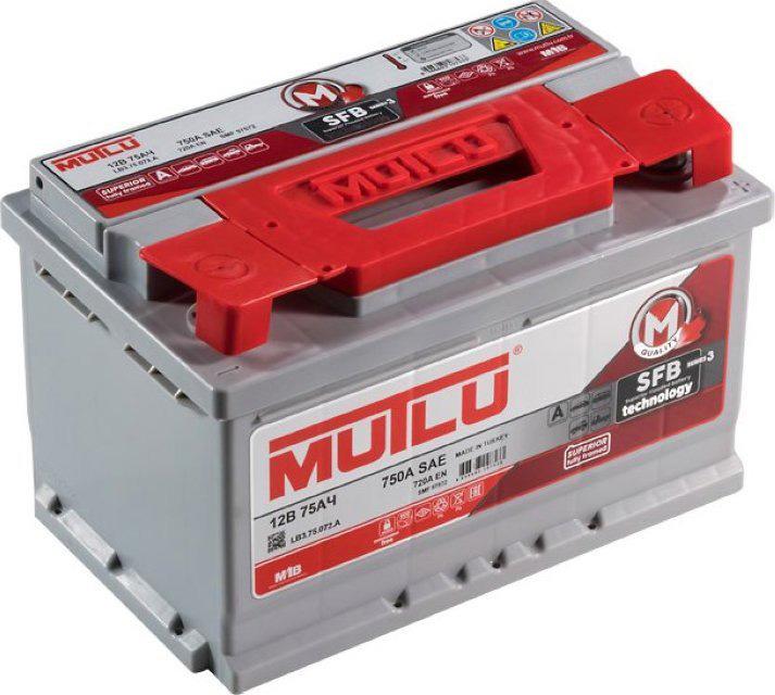 Аккумулятор MUTLU SFB 75 А/ч ОБР EN720 низк.