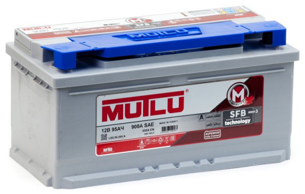 MUTLU SFB 95Ah 850A R+,низкий