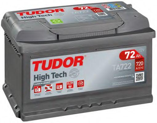 Аккумулятор TUDOR High-Tech 72 А/ч TA722 ОБР  EN720 низк