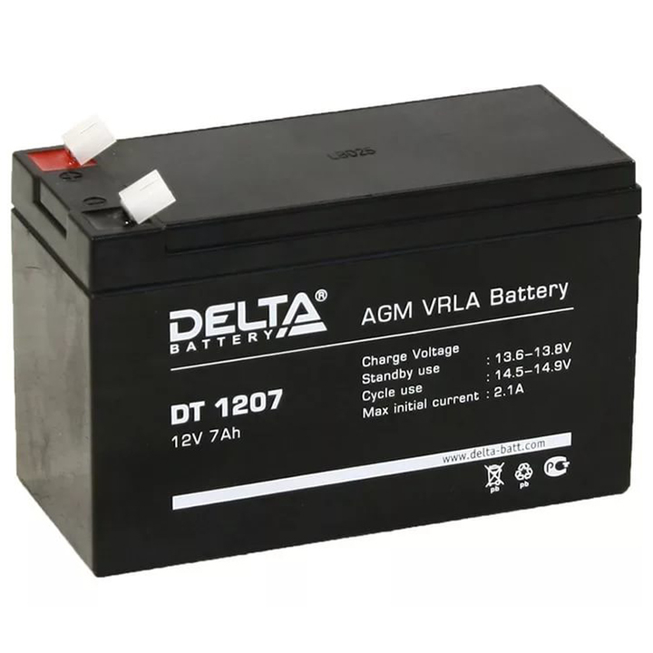 Аккумулятор для ИБП DELTA DT 1207