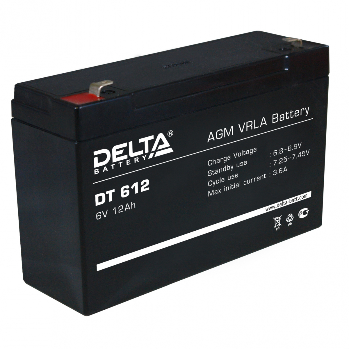 Аккумулятор для ИБП DELTA DT 612