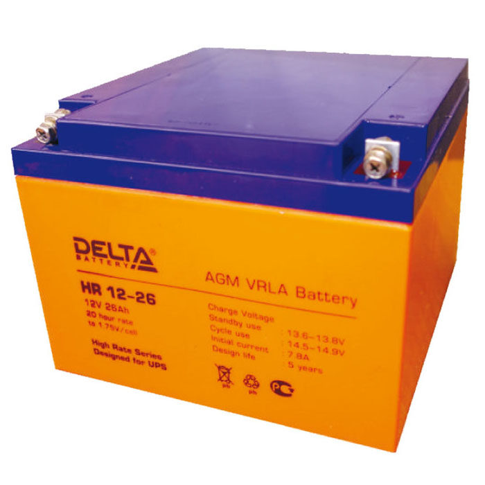 Аккумулятор для ИБП DELTA HR 12-26