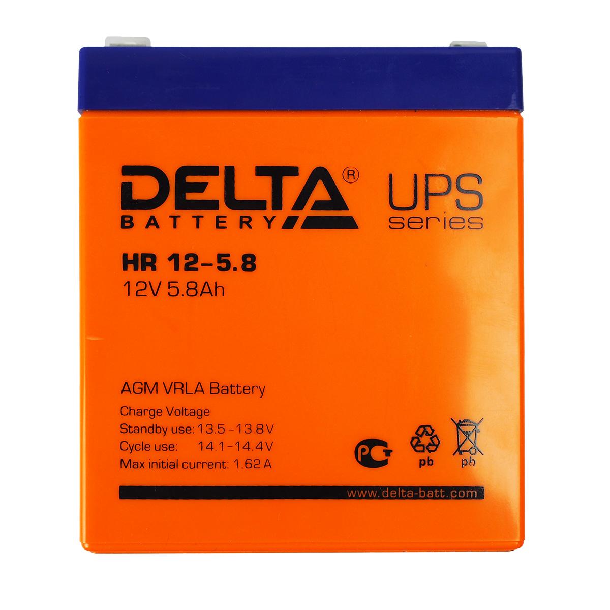 Аккумулятор для ИБП DELTA HR 12-5.8