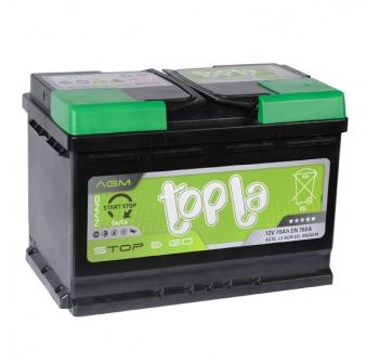 TOPLA AGM Stop&Go 70 А/ч