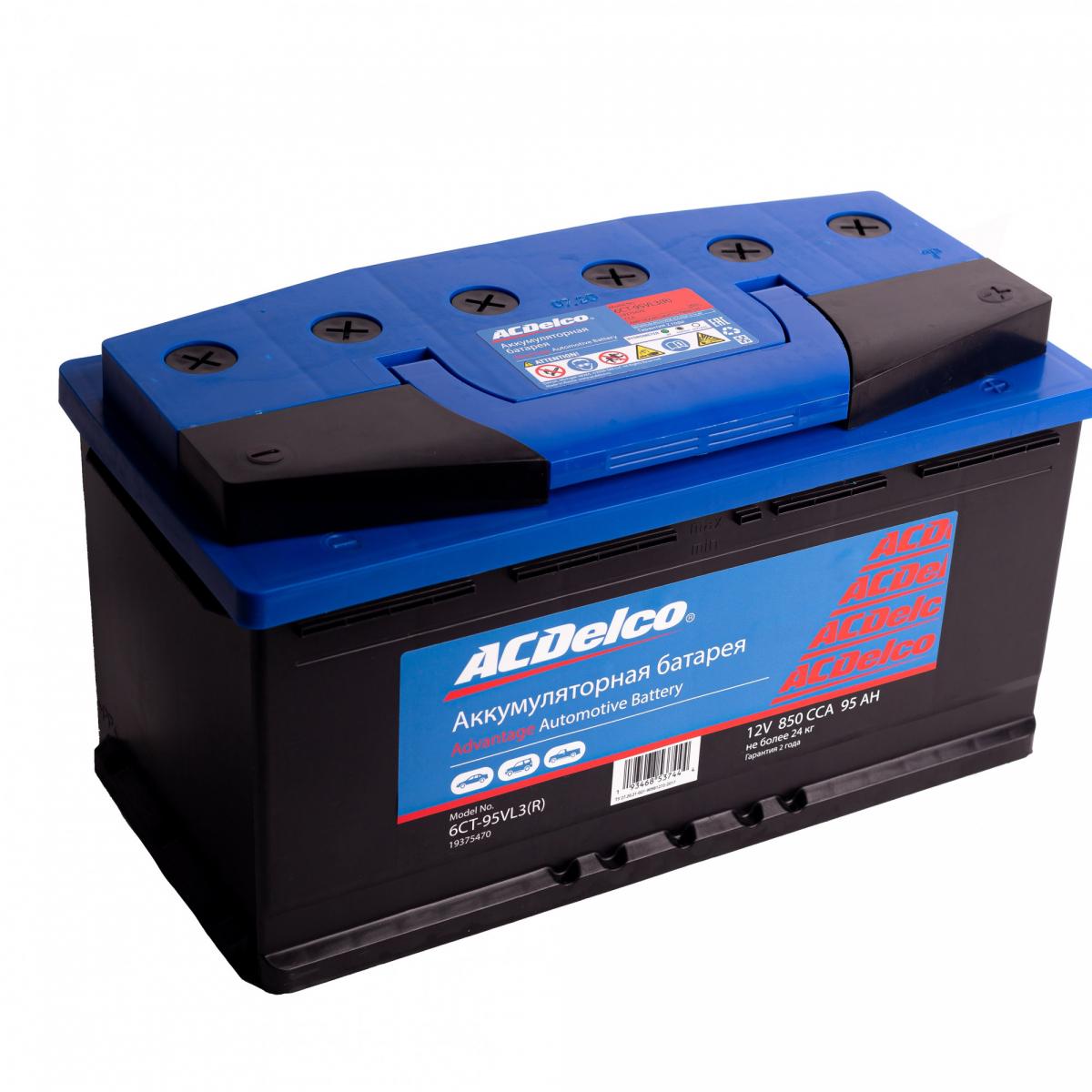 Аккумулятор ACDelco 88 А/ч обратная R+ EN820 А