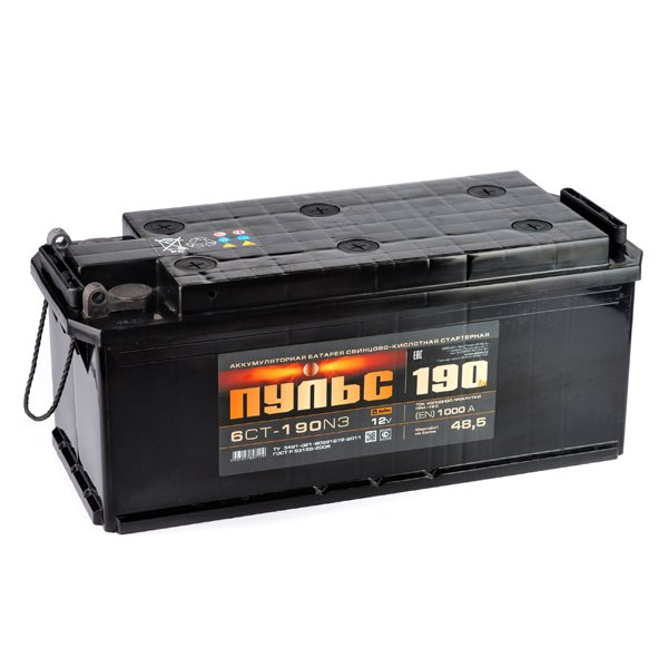 Аккумулятор ПУЛЬС 190.3 А/ч L+ EN1250